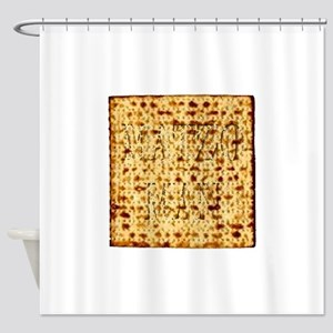 Matza Passover holiday Jewish Tradi Shower Curtain