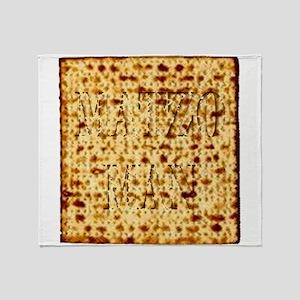 Matza Passover holiday Jewish Tradit Throw Blanket