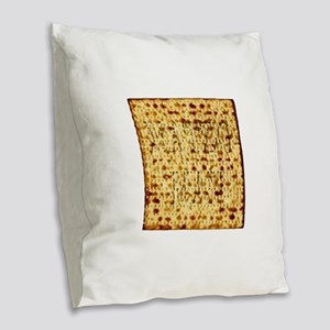Matza Passover holiday Jewish Burlap Throw Pillow