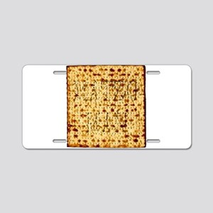 Matza Passover holiday Jewi Aluminum License Plate