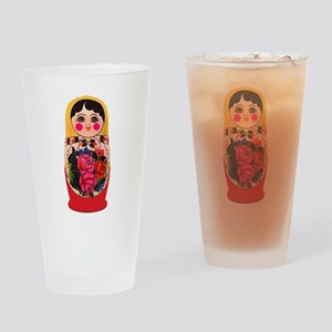 Matryoshka Russian Traditional doll Drinking Glass