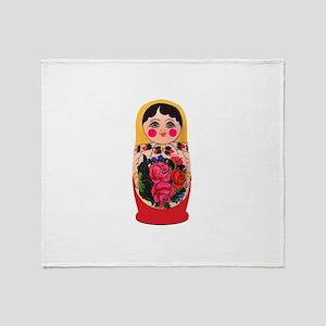 Matryoshka Russian Traditional doll Throw Blanket