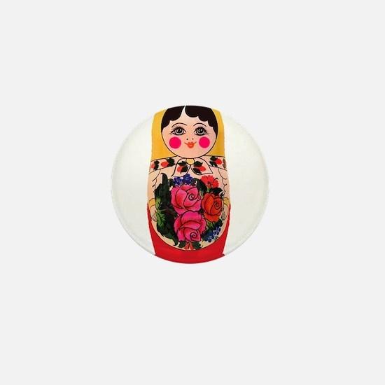 Matryoshka Russian Traditional doll Ba Mini Button
