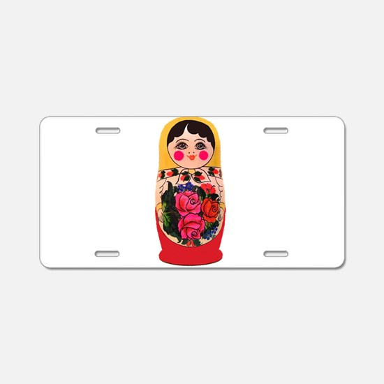 Matryoshka Russian Traditio Aluminum License Plate