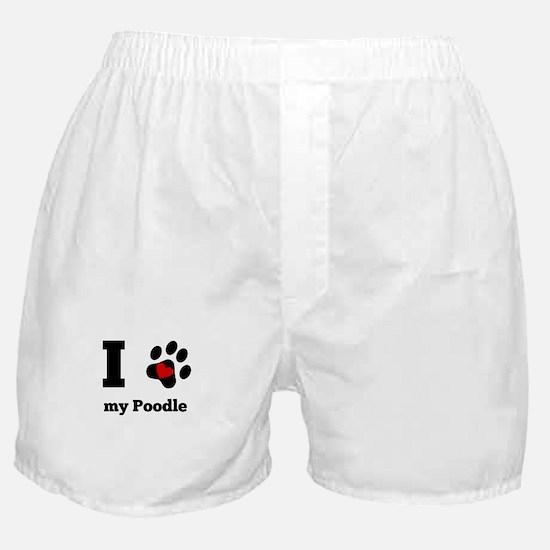 I Heart My Poodle Boxer Shorts