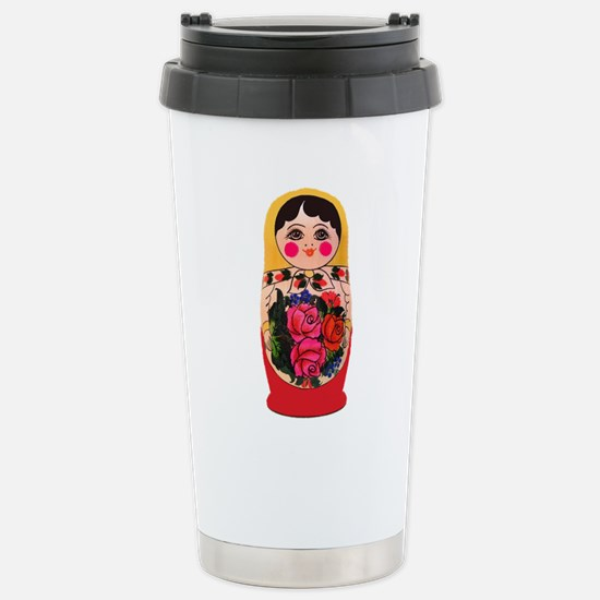 Matryoshka Russian Trad Stainless Steel Travel Mug