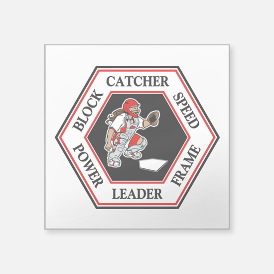 "CATCHER HEXAGON Square Sticker 3"" x 3"""