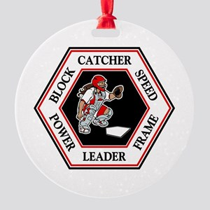 CATCHER HEXAGON Round Ornament