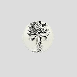 Mandragora autumn mandrake Psychedelic Mini Button
