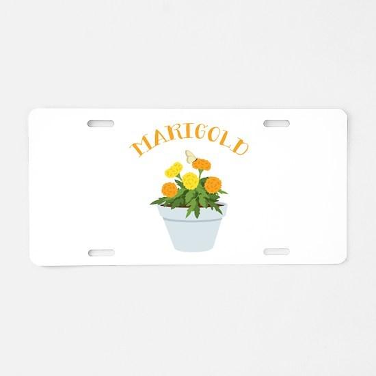 Marigold Aluminum License Plate