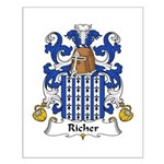 Richer Family Crest Small Poster