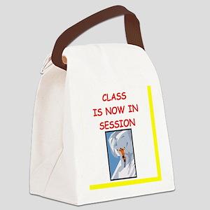 skiiing humor Canvas Lunch Bag
