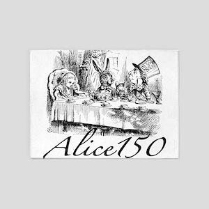 Alice Wonderland Children's Books S 5'x7'Area Rug