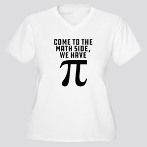 Come To The Math Women's Plus Size V-Neck T-Shirt