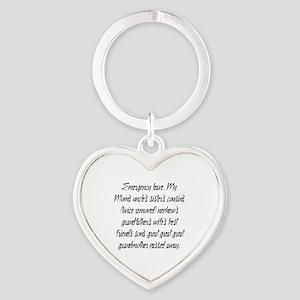 Leave PhD Heart Keychain