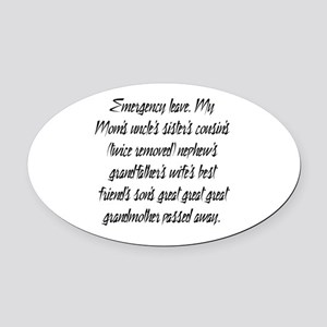 Leave PhD Oval Car Magnet