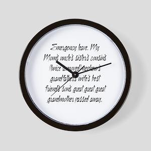 Leave PhD Wall Clock