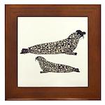 Hooded Seals Framed Tile
