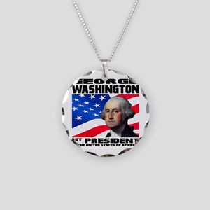 01 Washington Necklace Circle Charm