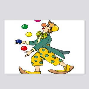 Clown Juggling Postcards (Package of 8)