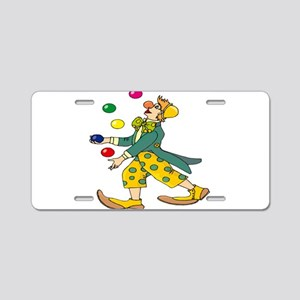 Clown Juggling Aluminum License Plate