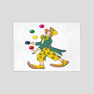 Clown Juggling 5'x7'Area Rug
