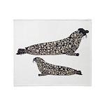 Hooded Seals Throw Blanket
