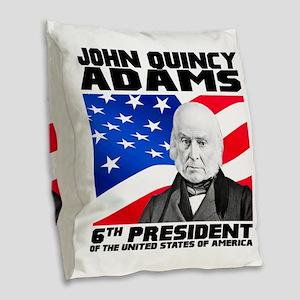 06 JQ Adams Burlap Throw Pillow