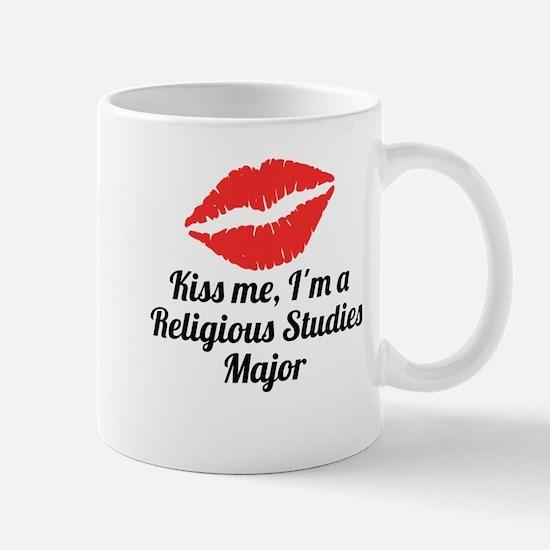 Kiss Me Im A Religious Studies Major Mugs