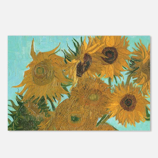 Van Gogh Vase with Sunflo Postcards (Package of 8)