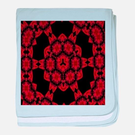Red Alaun Mandala baby blanket