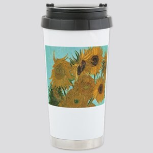 Van Gogh Vase with Sunf Stainless Steel Travel Mug