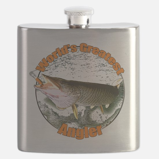 World's greatest angler Flask
