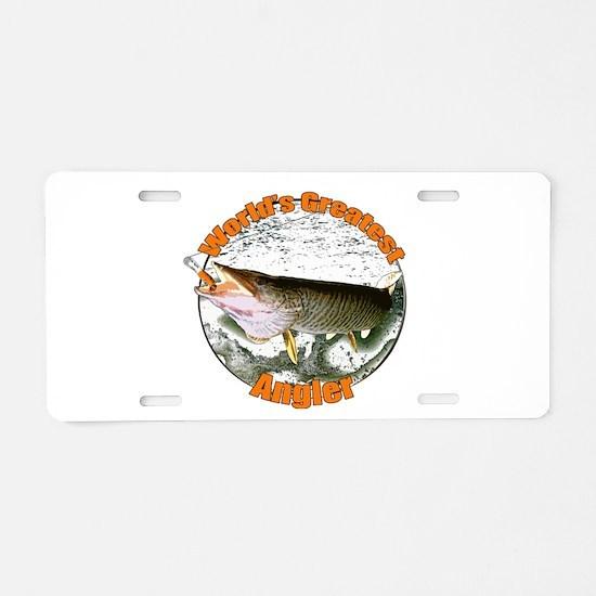World's greatest angler Aluminum License Plate