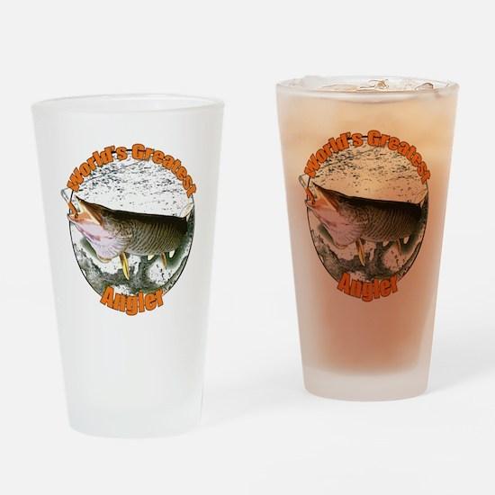 World's greatest angler Drinking Glass