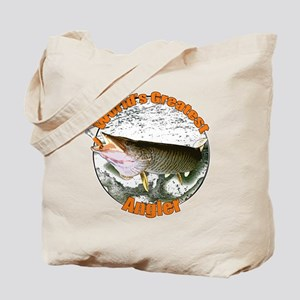 World's greatest angler Tote Bag