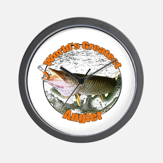World's greatest angler Wall Clock