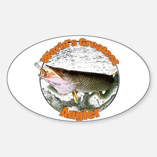 World's greatest angler Sticker (Oval)