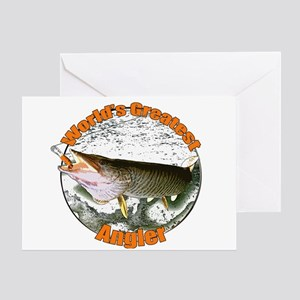 World's greatest angler Greeting Card