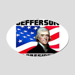 03 Jefferson 20x12 Oval Wall Decal