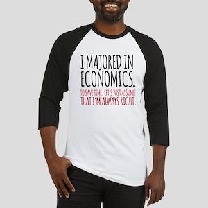 Majored In Economics Baseball Jersey