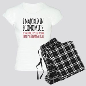 Majored In Economics Women's Light Pajamas