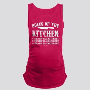 Rules of the Kitchen Maternity Tank Top