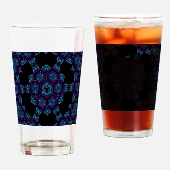 Violet Blue Crystal Mandala Drinking Glass
