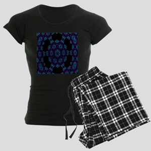 Violet Blue Crystal Mandala Women's Dark Pajamas