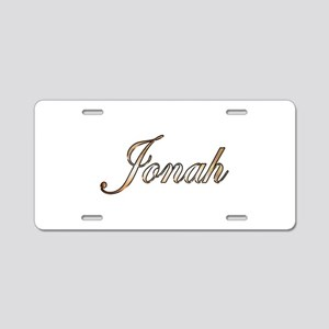 Gold Jonah Aluminum License Plate