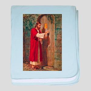 Jesus Knocks On The Door baby blanket