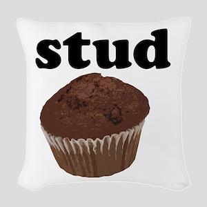Stud Muffin Woven Throw Pillow