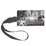 tennis in art Luggage Tag