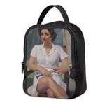 tennis in art Neoprene Lunch Bag